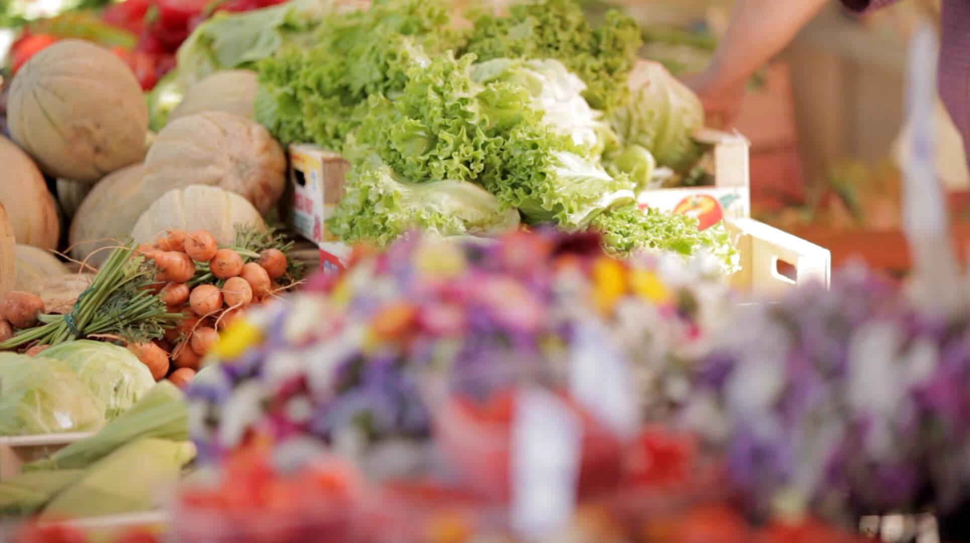 Gemüse auf Markt von Pula
