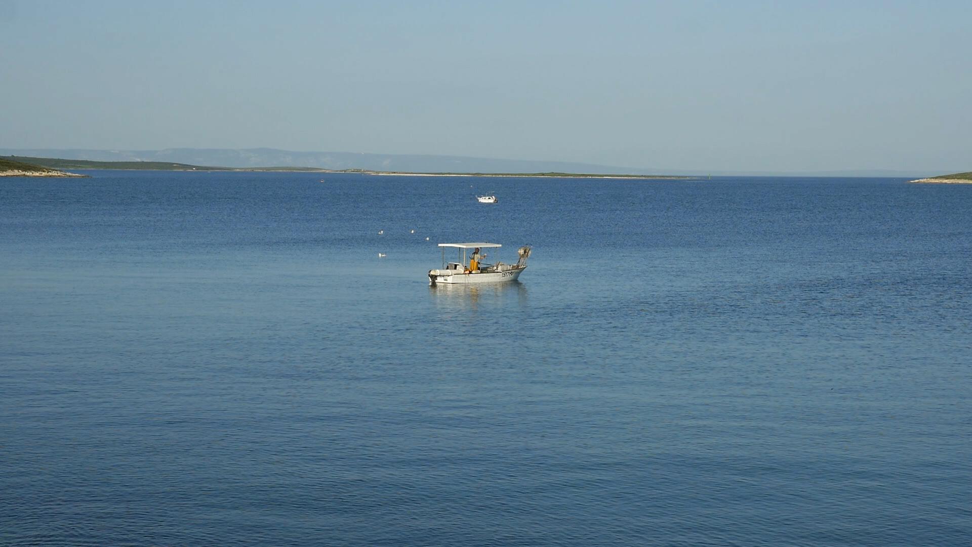 Fischboot am Kap Kamenjak.